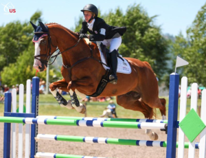 Cornelia and Louis M flying to to individual silver! PC: US Equestrian